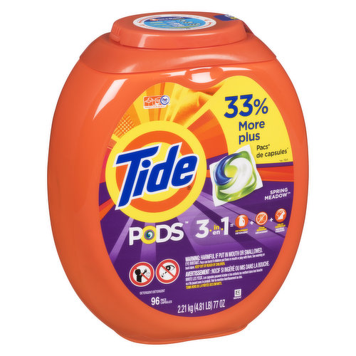 3-in-1 breakthrough technology with highly concentrated detergent, stain remover & color protector, giving you up to 90% cleaning ingredients for brighter brights & whiter whites wash after wash.