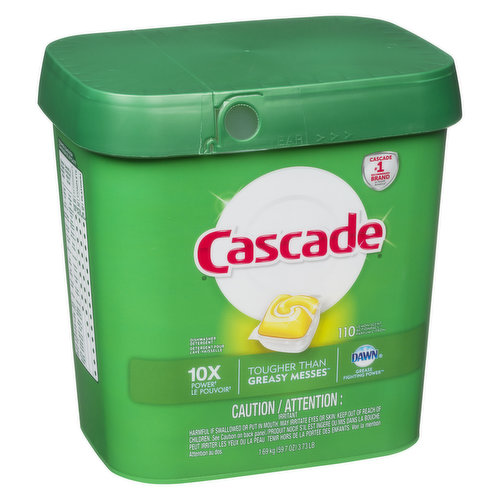 ActionPacs combine the scrubbing power of Cascade and the grease fighting power of Dawn to leave your dishes virtually spotless with a brilliant shine. Formulated with built in rinse aid action.