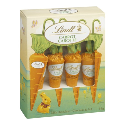Lindt Carrots are a Fun Millk Chocolate Treat for Children and Adults Alike! The Perfect Addition to the Lindt Gold Bunny. Enjoy One this Easter!