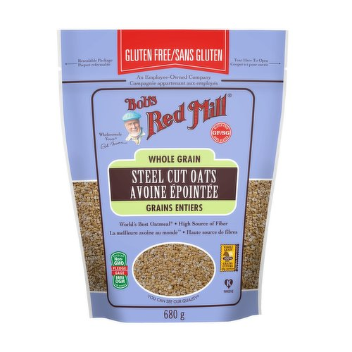 These award-winning Steel Cut Oats are freshly milled from high protein organic oats and cut into neat little pieces on a steel burr mill. Gluten free.