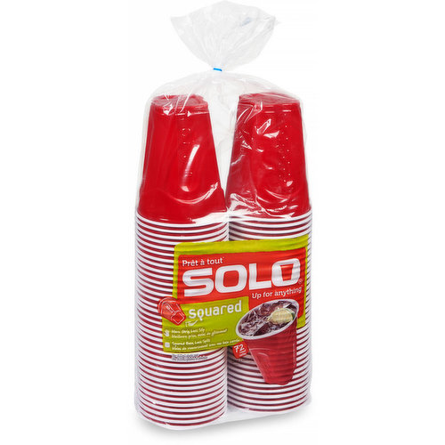 Perfect for parties, picnics, tailgates and more. Featuring a square base with grip areas, these cups are easy to hold and promise fewer spills. Made for every occasion that calls for good times.