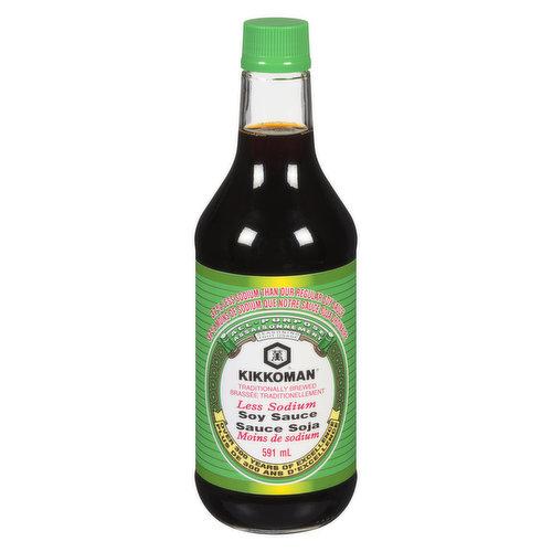 37% Less Sodium than Original Kikkoman Say Sauce. All-Purpose. Naturally Brewed.