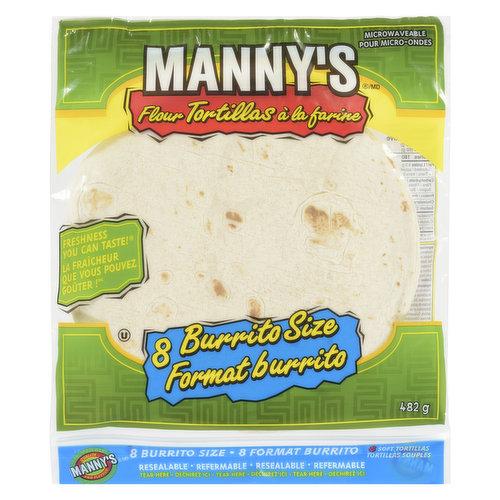 8 Handmade Burrito Size