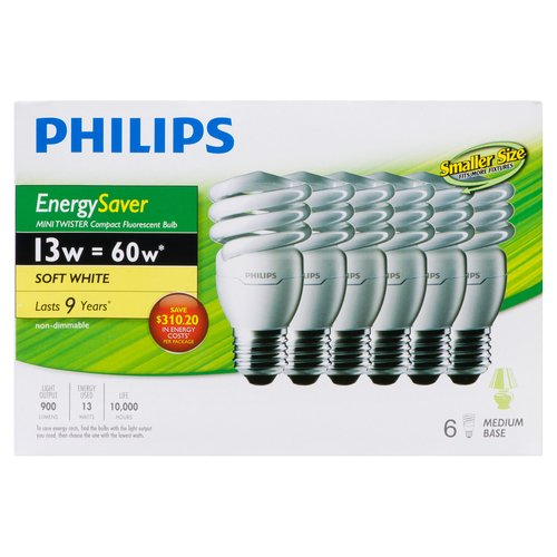 Medium Base. Energy Saver Compact Fluorescent bulb provides bright, energy saving light, long life and reduced operating costs. It can replace a standard 60w incandescent.