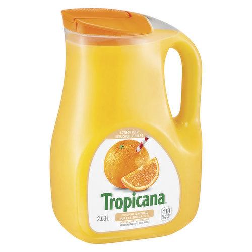 100% Pure & Natural Florida Orange Juice.