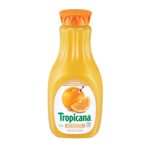 100% pure & natural juice. Perfect with breakfast & smoothies. Great source of vitamin C.