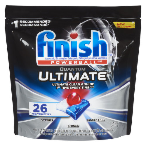 Easy-to-use, pre-measured dishwasher tablets with clean, fresh scent.