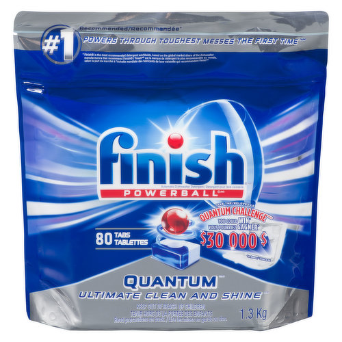 Quick dissolving gel washes away residue for an amazing shine. Pre-soaking Powerball penetrates and lifts away even 24-hour dried on food. Advanced powder with bleach cleans tough stains.