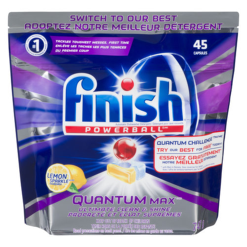 No Need to Unwrap. Easy-to-Use, Pre-Measured Dishwasher Pods with Refreshing Lemon Scent.