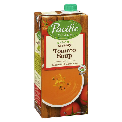 Fresh Organic Milk Perfectly Complements to the Tangy Sweetness of Organic Tomatoes. A Little Garlic & Onion Round Out the Flavour and Add Depth to this Wonderful Family Classic.