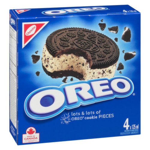 4x125ml Sandwiches with Lots & Lots of Oreo Pieces.