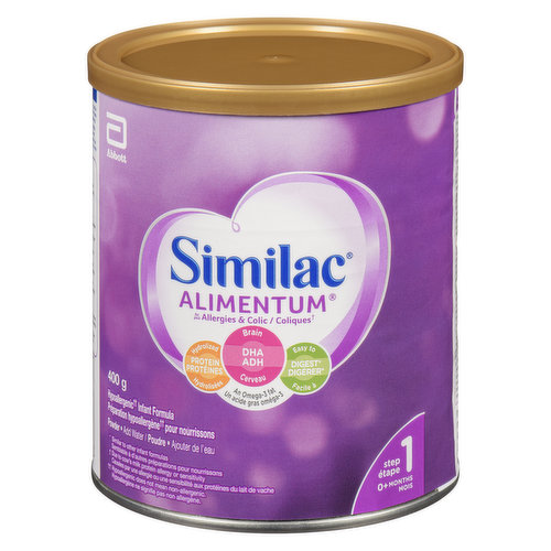 Iron Fortified Powder Formula. Omega 3 & Omega 6. Hypoallergenic, Easy to Digest. Just Add Water. For 0+ Babies.