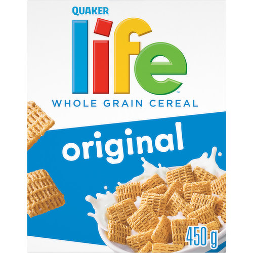 Whole Grain Cereal. Low in Saturated and Trans Fats.