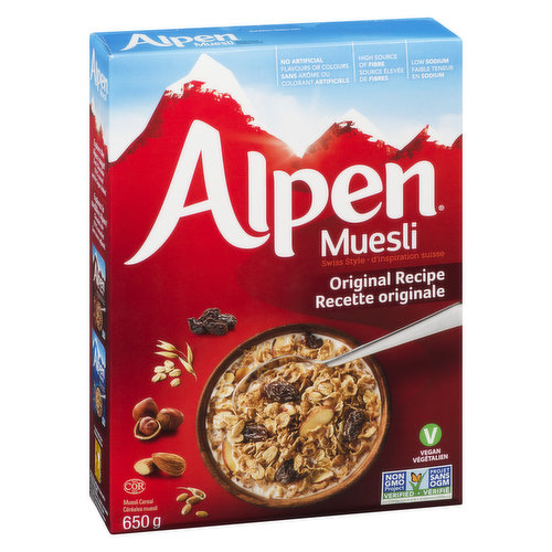 No Added Salt, No PreservativesNaturally Delicious Whole Grain Swiss Style Muesli Cereal