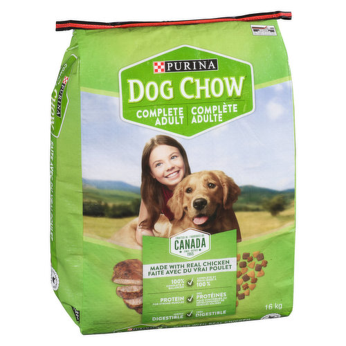 Adult dog food that contains all the nutrients needed to give your pet a healthy and long life. It provides the required protein, carbohydrates and vitamins to provide a complete source of nutrition.