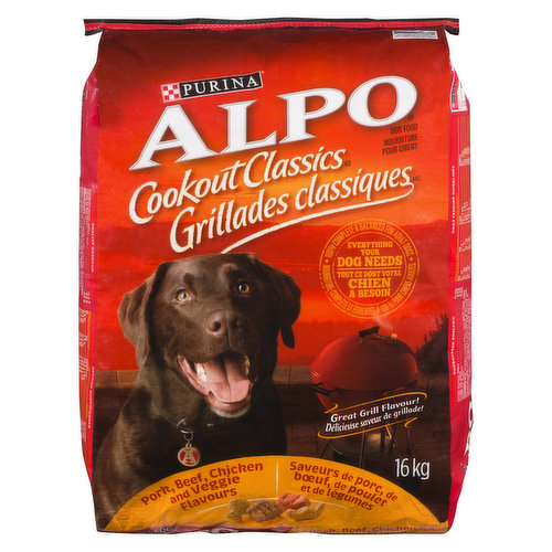 """<table border=""""0"""" cellpadding=""""0"""" cellspacing=""""0""""><tbody><tr><td>Dry Dog Food made with farm-raised chicken. 100% complete for adult dogs, with 23 vitamins & minerals. Crunchy kibble helps clean teeth.</td></tr></tbody></table>"""