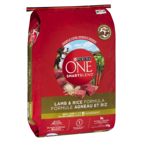 """<table border=""""0"""" cellpadding=""""0"""" cellspacing=""""0""""><tbody><tr><td>Dry dog food with real Lamb, the #1 Ingredient. Omega-6 fatty acids, vitamins, and minerals help give your dog a radiant coat and healthy skin.</td></tr></tbody></table>"""
