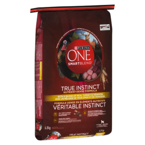 With a blend of real turkey & venison is formulated to meet the nutritional levels established by the AAFCO Dog Food Nutrient Profiles for maintenance of adult dogs.
