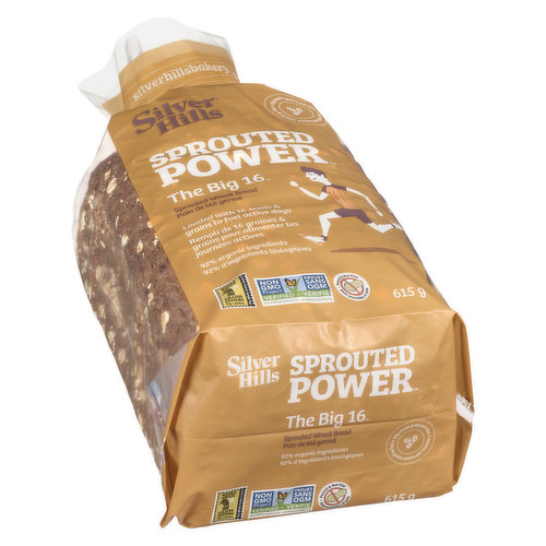 100% Sprouted Power  With 16 Organic Grains & Seeds to Keep You Going. 92% Organic Ingredients. Peanut and Nut Free.