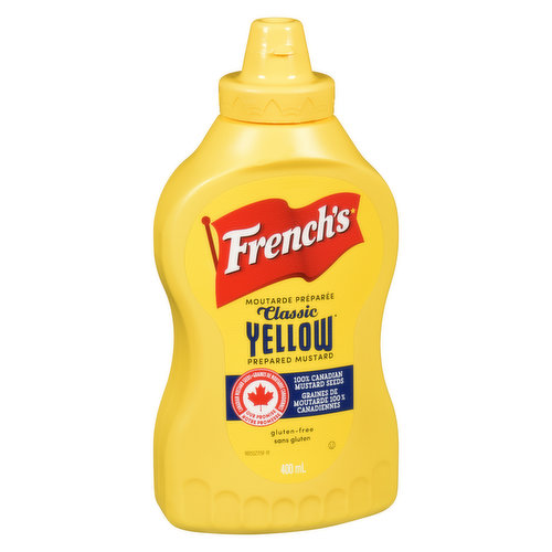 0 Calories. Made with Natural Ingredients. Prepared Mustard.
