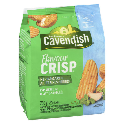 Frozen Made from Whole Potatoes. Deliciously Crisp and Perfectly Seasoned.