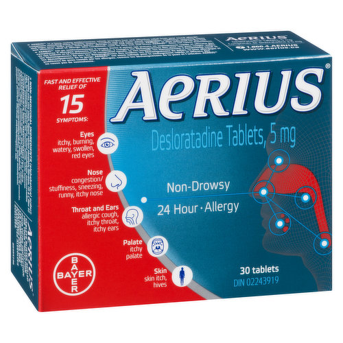 An Antihistamine That Delivers Multi-Symptom Allergy Relief for 24 Hours.  Provides Fast and Effective Relief From Allergy Symptoms Including Nasal Congestion, Sneezing, Runny Nose, Itchy Nose.