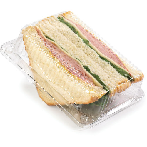 Thick Sliced White Bread, Mayonnaise, Bold & Spicy Mustard, Layered with one of the Following, Old Fashioned, Honey or Black Forest Ham. Topped with Swiss Cheese and Leaf Lettuce.