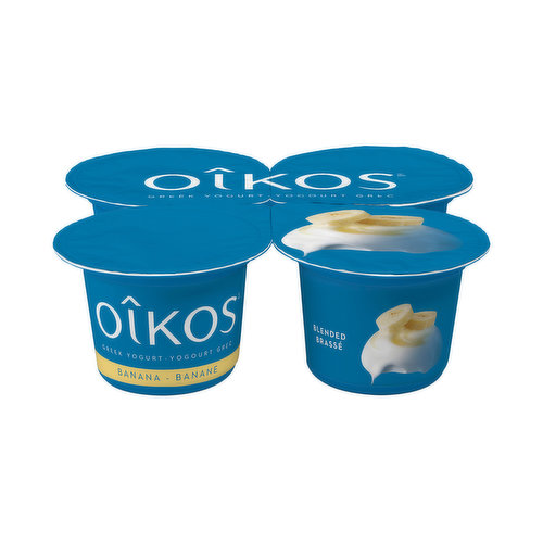 In certain parts of the world, people rely on bananas as a staple in their diets and its not hard to understand why! They provide lots of energy, contain high amounts of potassium, are easy to digest and have a simple yet delicious taste. What more could you ask from a fruit? With Oikos 2% Greek Banana yogurt, true banana lovers need to look no further for their delights! Try this creamy and unique flavour today. Treat yourself to an escape moment under the warm tropical sun with Oikos Greek Banana yogurt.