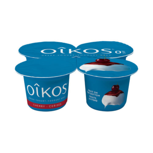 Ah, the cherry season! Perfectly ripe, perfectly coloured fruits. And as you bite into them, pleasure blooms inside of you. Without lifting a finger, you can relive those delicious moments with Oikos nonfat Greek Cherry yogurt. Bursting with creamy cherry goodness but with no fat, you get all the flavour of Oikos Greek yogurt with 0% of the fat. Close your eyes and let your taste buds take you on a heavenly ride down cherry memory lane.