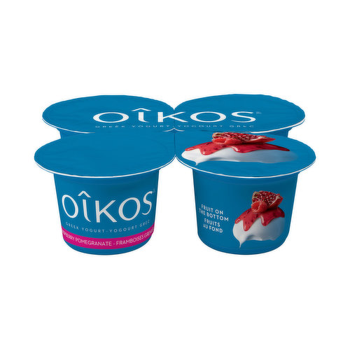 Add a little bit of dream to your everyday life with Oikos 2% Greek Raspberry-Pomegranate yogurt. Delightfully delicious, this flavour is the perfect blend of exotic fruits and local berries. A delicate flavour combination that has all of the creaminess only Oikos can provide you with. Captivate your senses with this wonderfully tasty pairing of flavours. Why wait any longer to try this mix of exquisite aromas? Enjoy a healthy snack at any time of the day. Youll adore your next escape moment.