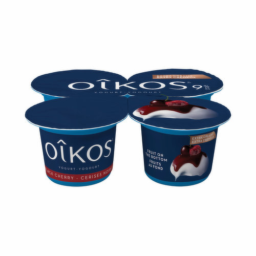 For centuries, the black cherry has symbolized decadence around the world. The star of the most lavish banquets, its always had an exotic appeal that makes it irresistible. With its creamy texture and rich flavour, Oikos Extra Creamy Black Cherry Yogurt offers a real moment of pleasure. Try the creamiest, richest and most indulgent of all our yogurts, in a 95g snack format. Yours to savour, one bite at a time.