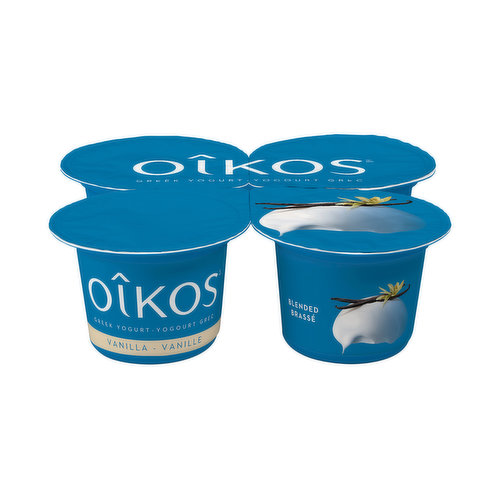 It is often said that classics never die Thats why Oikos decided to revisit the most definitive of classics with its vanilla-flavoured Greek yogurt: a familiar and delicate taste revisited. The same tantalizing flavour that you know so well, combined with traditional Greek yogurt. Whether its for breakfast, lunch, supper or for a snack, treat yourself to an escape moment with Oikos 2% Vanilla Greek yogurt. Timelessly delectable!