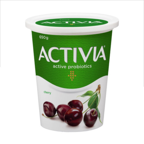 Danone Activia Cherry Yogurt is a creamy yogurt filled with live probiotics. These good bacteria, the B.L. Regularis, are exclusive to Activia and contribute to the health of the intestinal flora. Activia tasty cherry yogurt contains many important nu