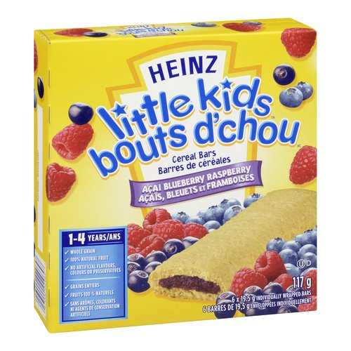 For Kids 1-4 Years. Whole Grain, 100% Natural Fruit, No Artificial Flavours, Colours or Preservatives.