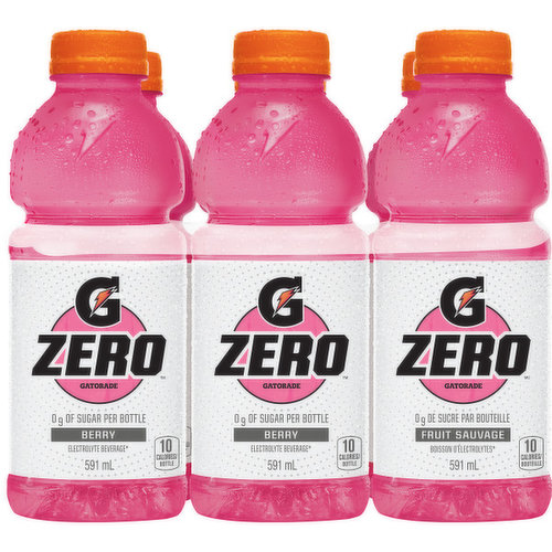 The refreshing taste of berry & 0g of sugar added -  helps quench your thirst, rehydrate & replenish fluids. Size 6X591ml.