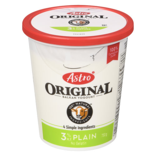 Inspired by homemade European yogourts, Astro Original Balkan set style yogourt is nutrient rich, naturally thick and refreshingly creamy.