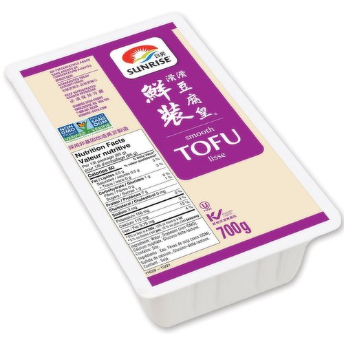 Has a texture similar to medium firm tofu and is a source of calcium and iron.