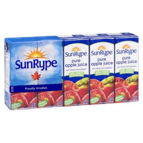 5x200ml Juice Boxes100% Juice Not From ConcentrateVitamin C Added