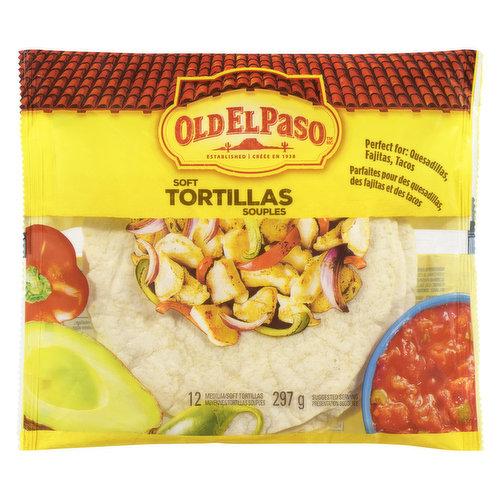 12 Tortillas Perfect For Quesadillas,Tacos & Fajitas