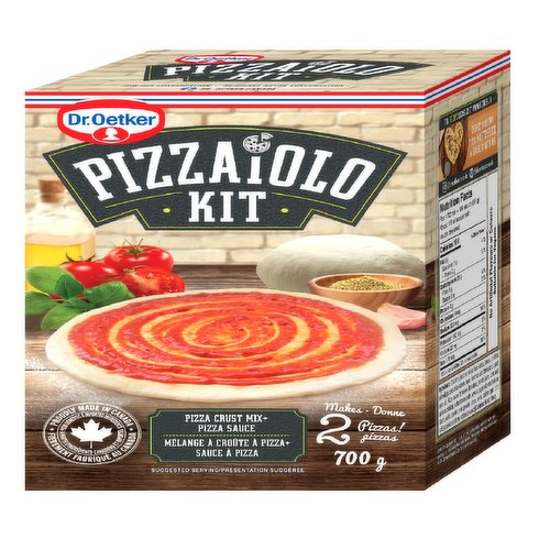 A pizza crust mix and sauce kit! Just add water and knead and you will have the perfect dough ready to top with your favorite toppings.