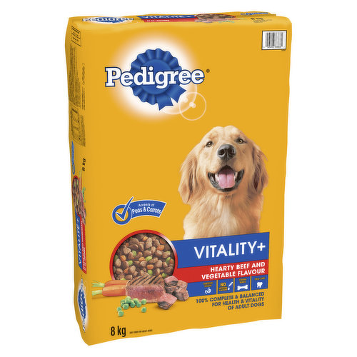 Formulated For 4 Universal Needs of All Dogs. 100% Complete & Balanced For Health & Vitality of Adult Dogs.
