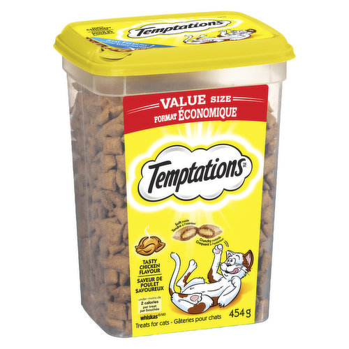 Value Tub Size. 2 Calories per Treat. Soft Inside Crunchy Outside.