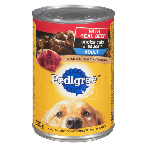 100% Complete and Balanced for Adult Dogs. Made with High Quality Protein.
