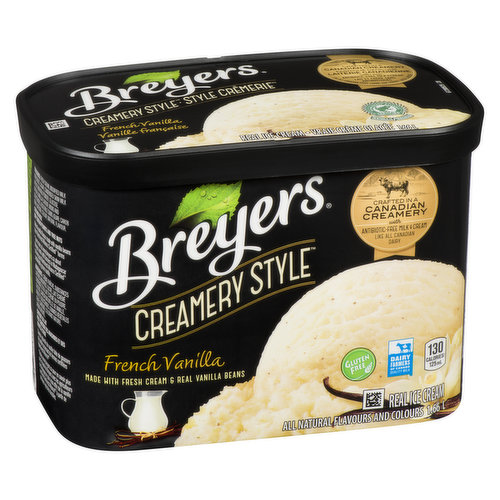 Real vanilla ice cream - with a french twist.Crafted in a Canadian creamery with antibiotic free milk & cream. Flavors & colors from natural sources. Gluten free.
