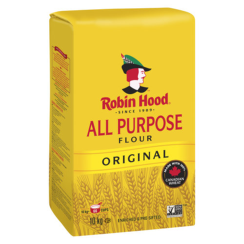 Enriched & Pre-Sifted. Milled from High Quality Hard Red Spring Wheat and Soft Wheat, our All Purpose Flour Protein Content Lies in Between our Best for Bread and Best for Cake & Pastry Flours.