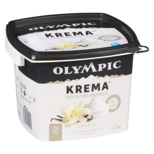 Greek Style Thick and Rich Yogurt 10% M.F. 100% Natural Ingredients, No Gelatin, No Gluten