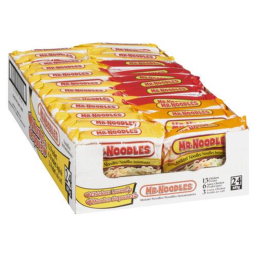 24X85g Assorted Chicken Flavour Pack. 15 Chicken6 Spicy Chicken3 Curry Chicken