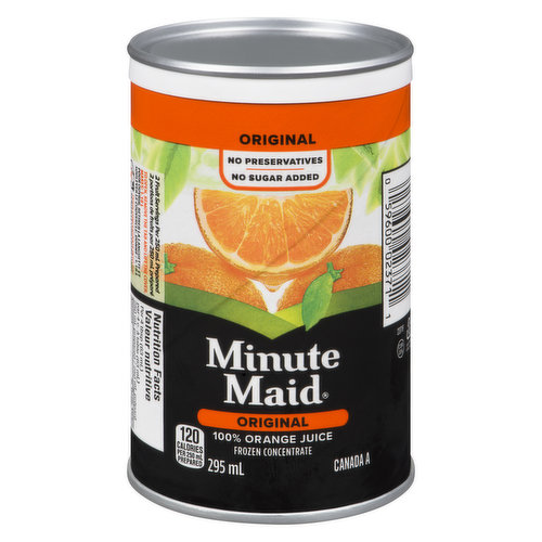 100% Frozen Concentrate Orange Juice