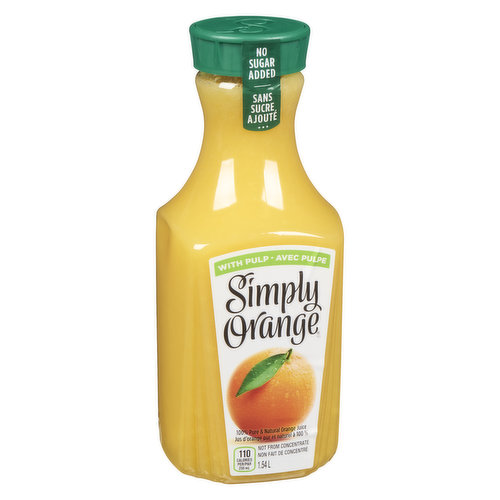 Try a delicious taste that's the next best thing to fresh-squeezed. Never sweetened, concentrated or frozen. 100% pure and natural, with juicy bits of real orange.