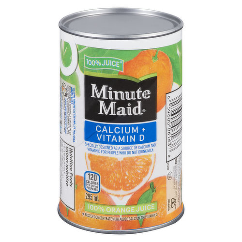 100% Orange Juice Frozen Concentrate with Added Calcium and Vitamin D